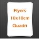 Flyers 10x10cm quadri