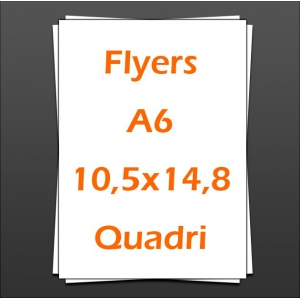 Flyers A6 10,5x14,8 quadri