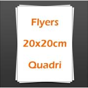 Flyers 20x20cm quadri