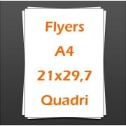 Flyers A4 21x29,7cm quadri