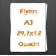 Flyers A3 29,7x42cm quadri