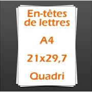 En-têtes de lettres A4 21x29,7cm quadri