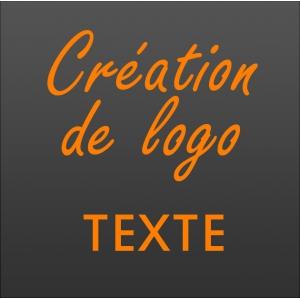 Création logo texte vectoriel
