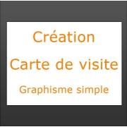 Création carte de visite graphisme simple