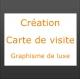 Création carte de visite graphisme de luxe