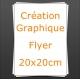 Création Flyer 20x20cm