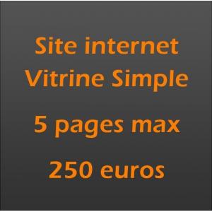 Création site internet vitrine pro 5 pages